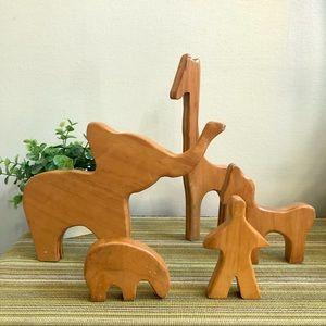 Wooden Minimalist Animals Nursery Home Decor